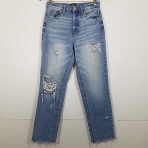 BDG Button Fly High Rise Distressed Jeans Size 26